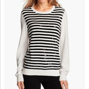 Michael Kors Black sequin stripe sweater